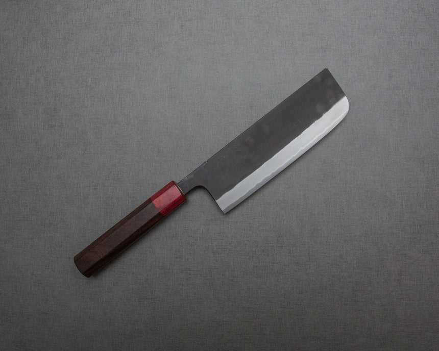 Kaishin Shirogami #2 Kurouchi 165mm Nakiri with Rosewood Handle