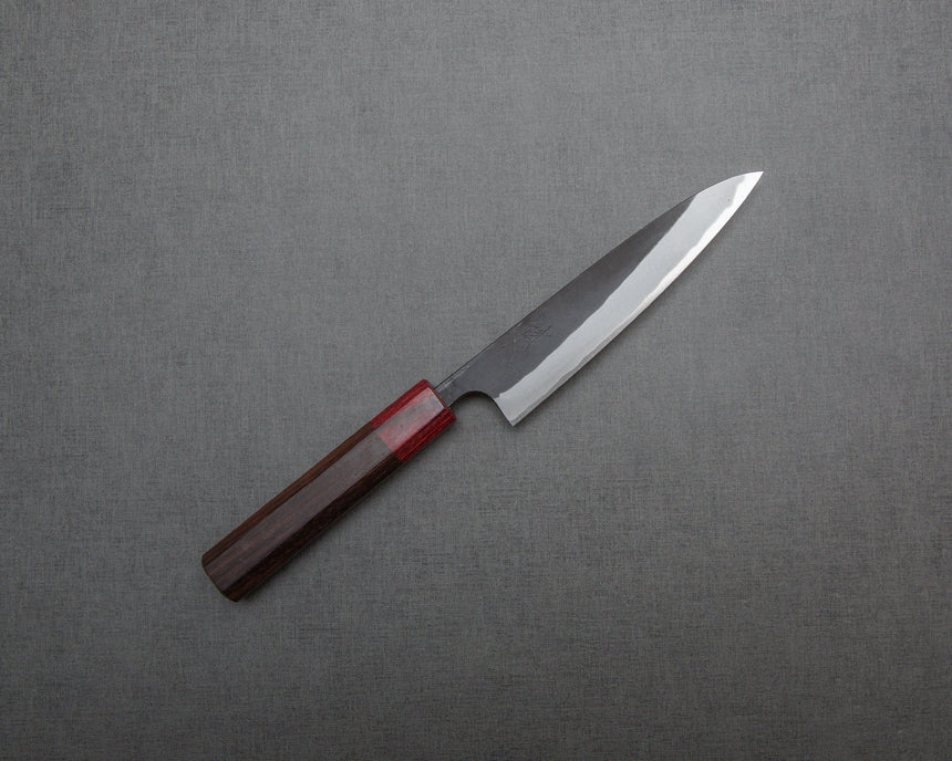 Kaishin Shirogami #2 Kurouchi Petty with Rosewood Handle