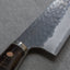 Nigara R2/SG2 Kurouchi Tsuchime 165mm Santoku with Stablized Wood / Polished Emperador Umber Acrylic Handle