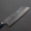 Nigara R2/SG2 Matt Migaki Tsuchime 165mm Kiritsuke Nakiri with Polished Flowing Blue River Acrylic Handle