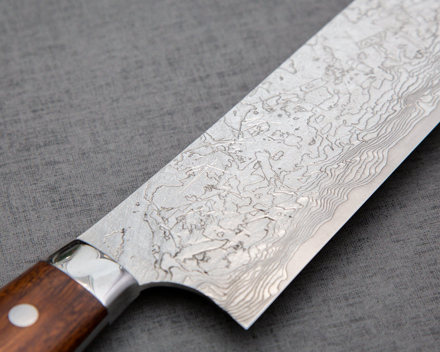 Takeshi Saji R2/SG2 Diamond Damascus Gyuto with Ironwood Handle
