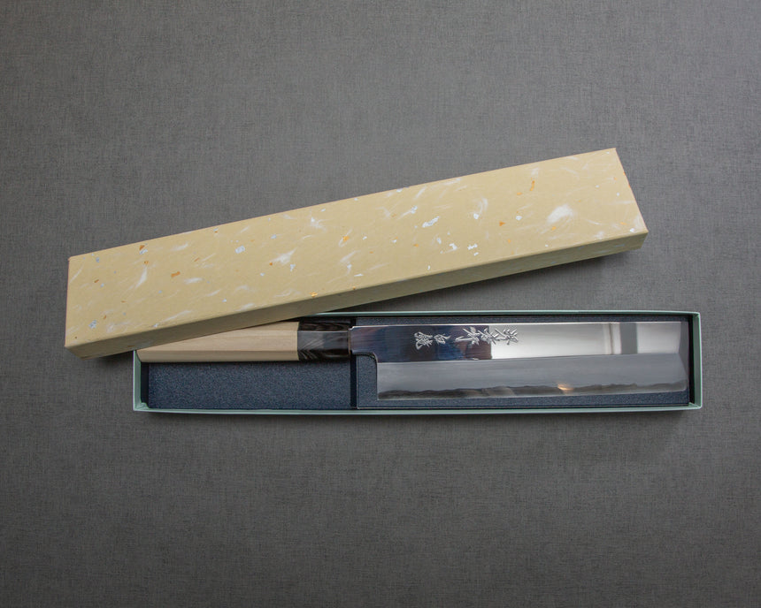 "Sakai Takayuki ""Shirokagami"" Shirogami #2 Mirror Finish Usuba with Buffalo Horn Handle"