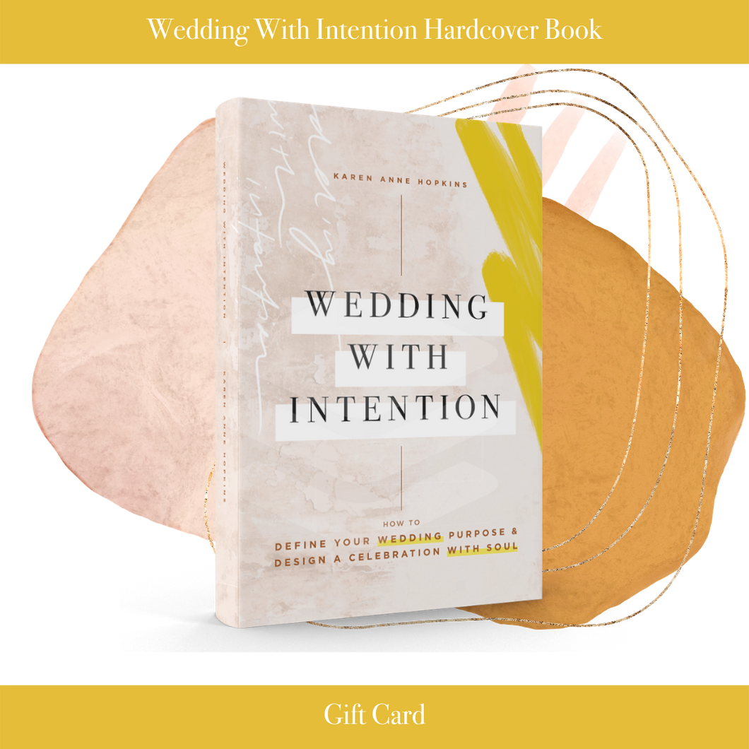 Wedding With Intention Hardcover Book - Gift Card