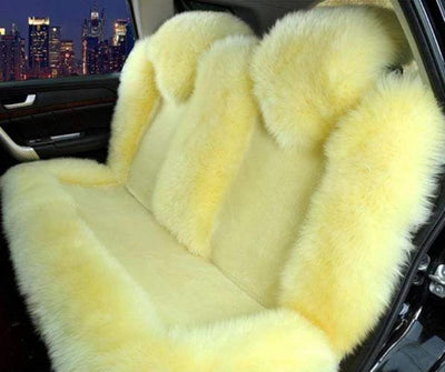 Primenzo 200000206 Premium Wool Natural Back Seat Covers Beige