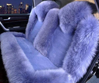 Primenzo 200000206 Premium Wool Natural Back Seat Covers Blue