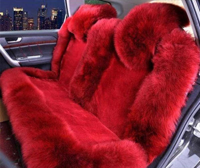 Primenzo 200000206 Premium Wool Natural Back Seat Covers Red