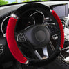 Primenzo 200000490 Ultra-Soft Luxury Steering Wheel Covers Black Red