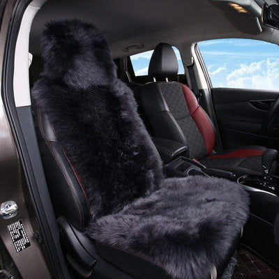 Primenzo 200000206 Superior-Quality Sheepskin Car Seat Covers Black