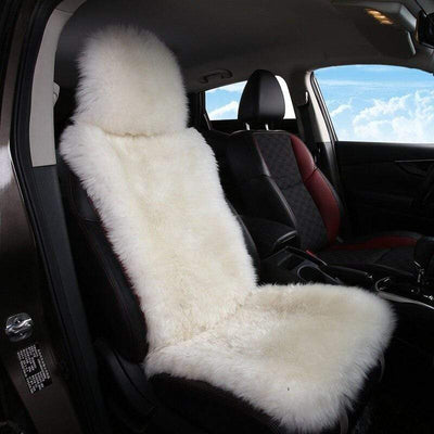 Primenzo car seat covers Superior-Quality Sheepskin Car Seat Covers White