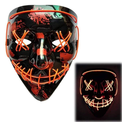 Primenzo halloween masks The Scariest Halloween LED Purge Mask Red