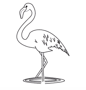 comment dessiner un flamant rose facilement