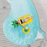 piscine et matelas gonflable ananas
