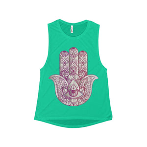Hamsa Women's Flowy Scoop Muscle Tank