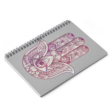 Load image into Gallery viewer, Hamsa Spiral Notebook - Ruled Line