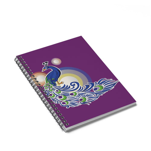 Peacock Goddess Spiral Notebook - Ruled Line