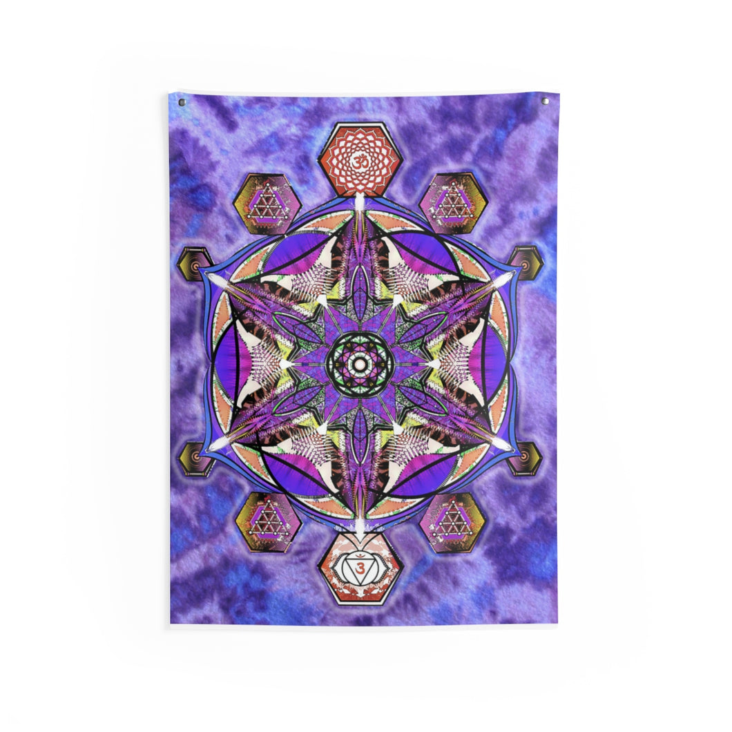 Purple Vibration Indoor Wall Tapestry