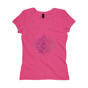Women's Soft Wash V-neck Tee