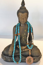 Load image into Gallery viewer, Blue Magnesite Hamsa Hand