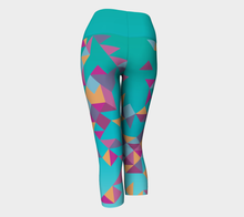 Load image into Gallery viewer, Turquoise Triangle Yoga Capri
