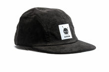 "Load image into Gallery viewer, ""Ozzy"" — Black Five-Panel Corduroy Hat"