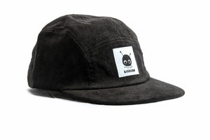 """Ozzy"" — Black Five-Panel Corduroy Hat"