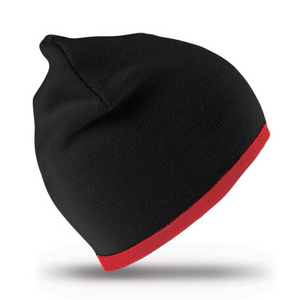 Reversible fashion fit beanie hat