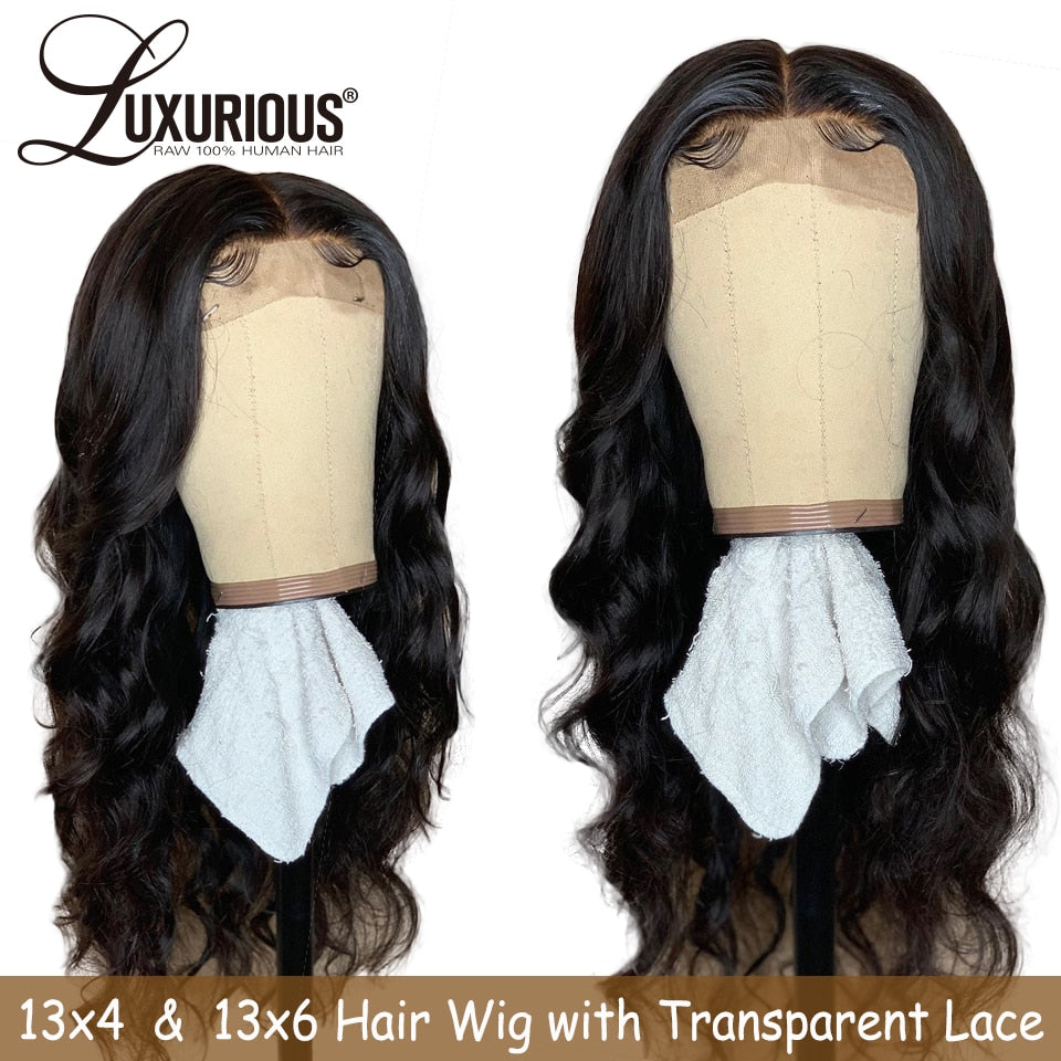 13X6 Lace Front Human Hair Wigs With Transparent Lace