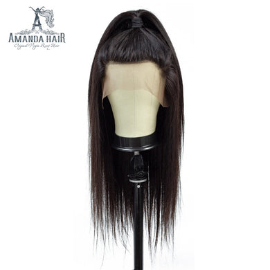Lace Front Human Hair Wigs Pre Plucked Hairline