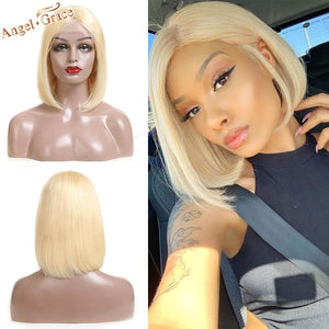 Blonde Lace Front Human Hair Wigs 13X4 Brazilian Straight