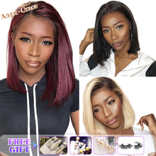 Load image into Gallery viewer, Blonde Lace Front Human Hair Wigs 13X4 Brazilian Straight