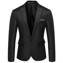 Load image into Gallery viewer, CYSINCOS Quality Brand Men Blazers Men's Tuxedos Formal Occasions Coat Fashion Slim One Button Blazer Men's Business Blazers