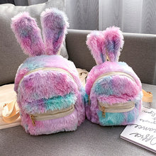 Load image into Gallery viewer, Cute Faux Fur Mini Backpack Rabbit Ear Women Travel bag