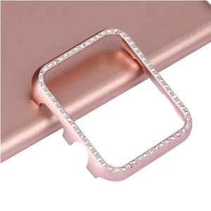 Diamond case cover For Apple watch band apple watch 4 3 5 case cover