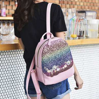 Girl's Small Backpack 2019 Fashion Shining Sequin Bag
