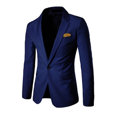 HOT Men's Stylish Casual Solid Blazer Business Wedding Party