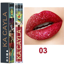 Load image into Gallery viewer, Halloween Theme Red Matte Lipstick Liquid Lipstick Makeup Lip Gloss Glitter