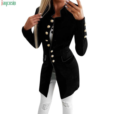 JAYCOSIN Fashion blazer Women Simple Office Lady Lapel Suit Coat Long-Sleeve Jacket Button Coat blazer mujer 2019 Casual blazer