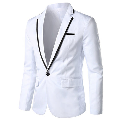 Men's Solid Casual Blazer Jackets Coat Outwear Topos Suit Wedding Men's Wedding Party Suit Men Suit Jacket veste homme costume
