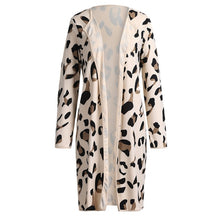 Load image into Gallery viewer, New sweater women Long Sleeve Leopard Print Cardigan Open Front Jacket Coat blusas femininas sueter mujer invierno 2019