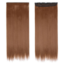 Load image into Gallery viewer, S-noilite clip in Hair Extensions Black Brown Natural Straight