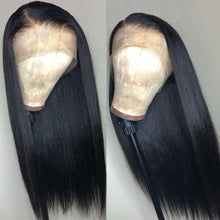 Load image into Gallery viewer, Superfect Malaysian Straight 360 Lace Frontal Wig Pre Plucked With Baby Hair Remy Natural Hairline Lace Frontal Human Hair Wigs