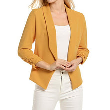 Load image into Gallery viewer, Women Blazer Work Office Coat 3/4 Sleeve Blazer Open Front Short Cardigan Suit Jacket blazer longo feminino 2019 пиджак женский