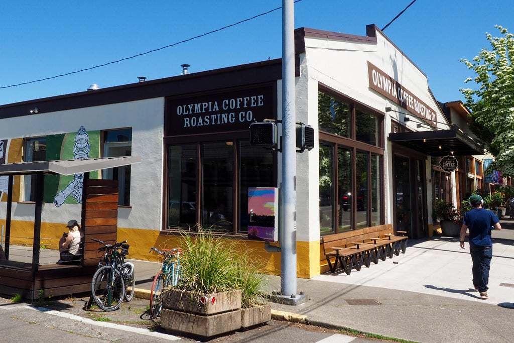 New downtown cafe and expanded roasting headquarters.