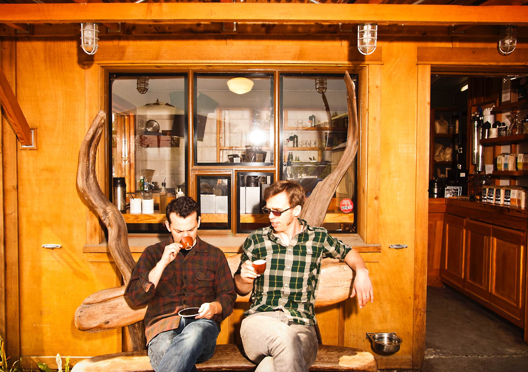 Co-Owners of Olympia Coffee Roasters, Oliver Stormshak (left) and Sam Schroeder (right).