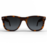 tortoise spartan frame sunglasses with silver accents