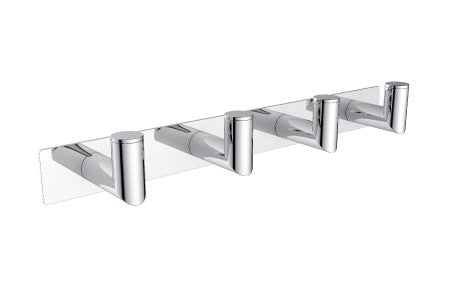 KARTNER    144134-4   OSLO - QUADRUPLE ROBE HOOK  - DEEP- POLISHED CHROME - FaucetMart
