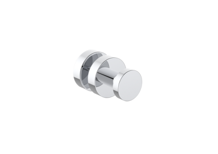 KARTNER   1447501  OSLO - SHOWER DOOR HANDLE SINGLE KNOB  - POLISHED CHROME - FaucetMart