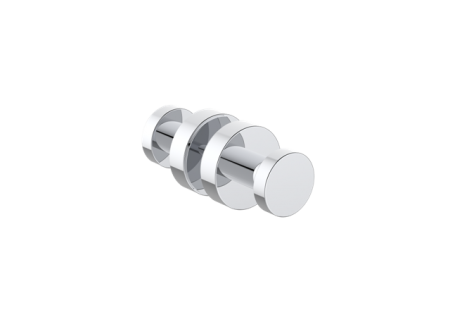 KARTNER   1447502  OSLO - SHOWER DOOR HANDLE DOUBLE KNOB  - POLISHED CHROME - FaucetMart