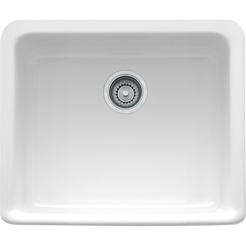 FRANKE  MHK110-20WH    MANOR HOUSE- DROP-ON SINK SINGLE FIRECLAY - WHITE - FaucetMart