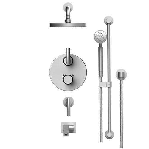 RUBINET H2O 27HOL TEMPERATURE CONTROL SHOWER WITH TWO WAY DIVERTER & SHUT-OFF, WITH ONE SEPERATE VOLUME CONTROL, HAND HELD SHOWER, BAR, INTEGRAL SUPPLY WALL MOUNT BIDET/FOOT RINSE & LASALLE SHOWER HEAD & ARM, 8